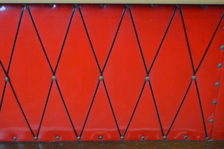 1950s Red Storage Cabinet, Home Bar For Sale 3