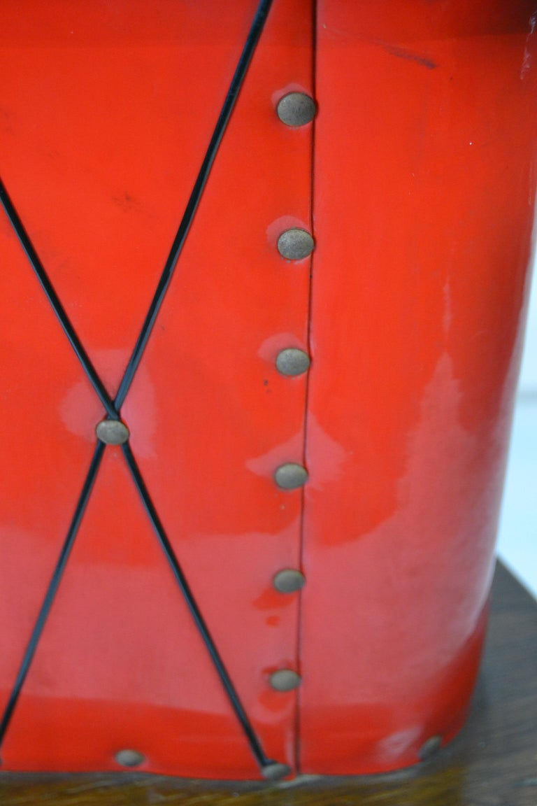1950s Red Storage Cabinet, Home Bar For Sale 5