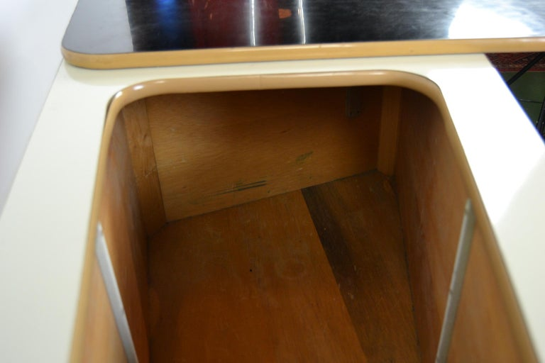 1950s Red Storage Cabinet, Home Bar For Sale 9