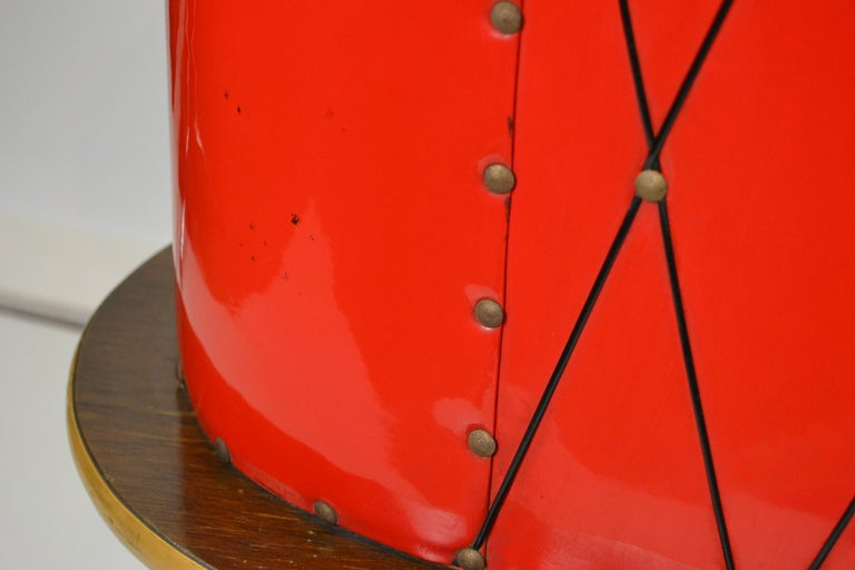 1950s Red Storage Cabinet, Home Bar For Sale 2