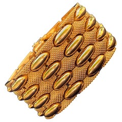 1950s Retro Era 18k Yellow Gold Men's Bangle 18 Karat Gold Bangle 83.4 Grams