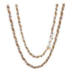 1950s Retro Silver Tiffany & Co. Rope Chain
