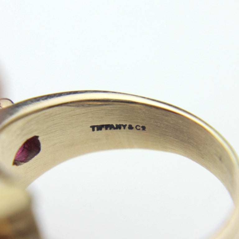 1950s, Retro Tiffany & Co, Citrine and Ruby Cocktail Ring For Sale 1