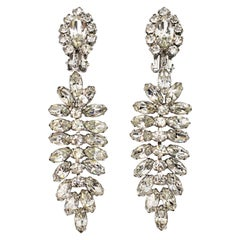 1950s Rhinestone Drop Earrings