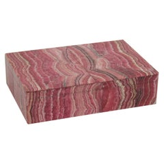 1950s Rhodochrosite Jewerly or Trinket Box