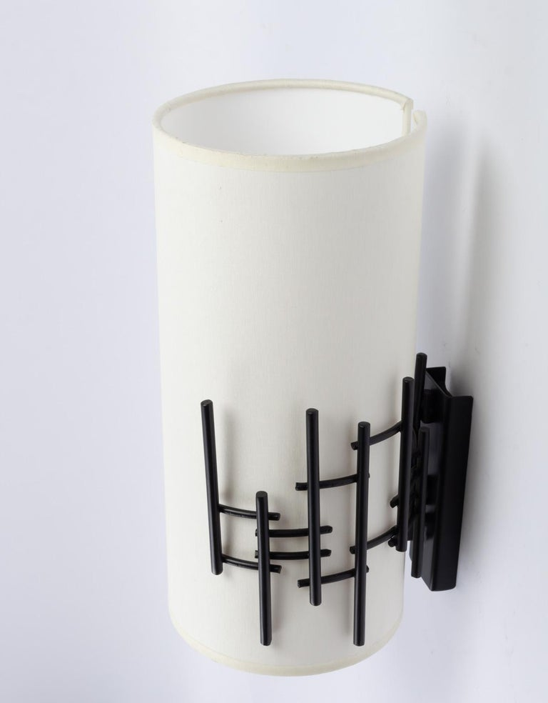 Wrought Iron 1950s Rispal Wall Lights For Sale
