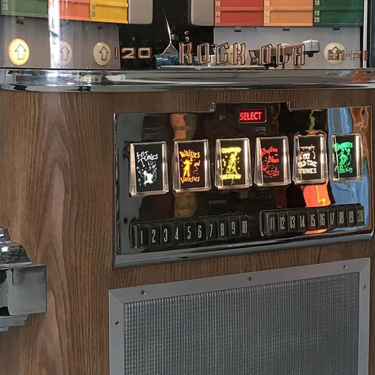 American Craftsman 1950s Rock-Ola 1464 Wall-Mounted Vinyl Jukebox For Sale