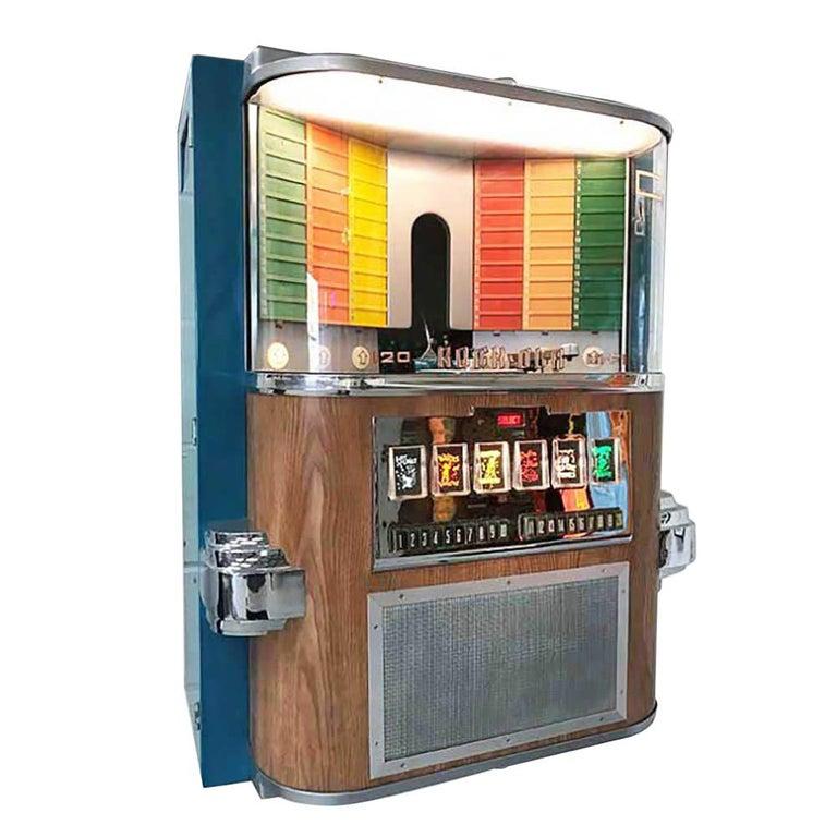 1950s Rock-Ola 1464 Wall-Mounted Vinyl Jukebox For Sale