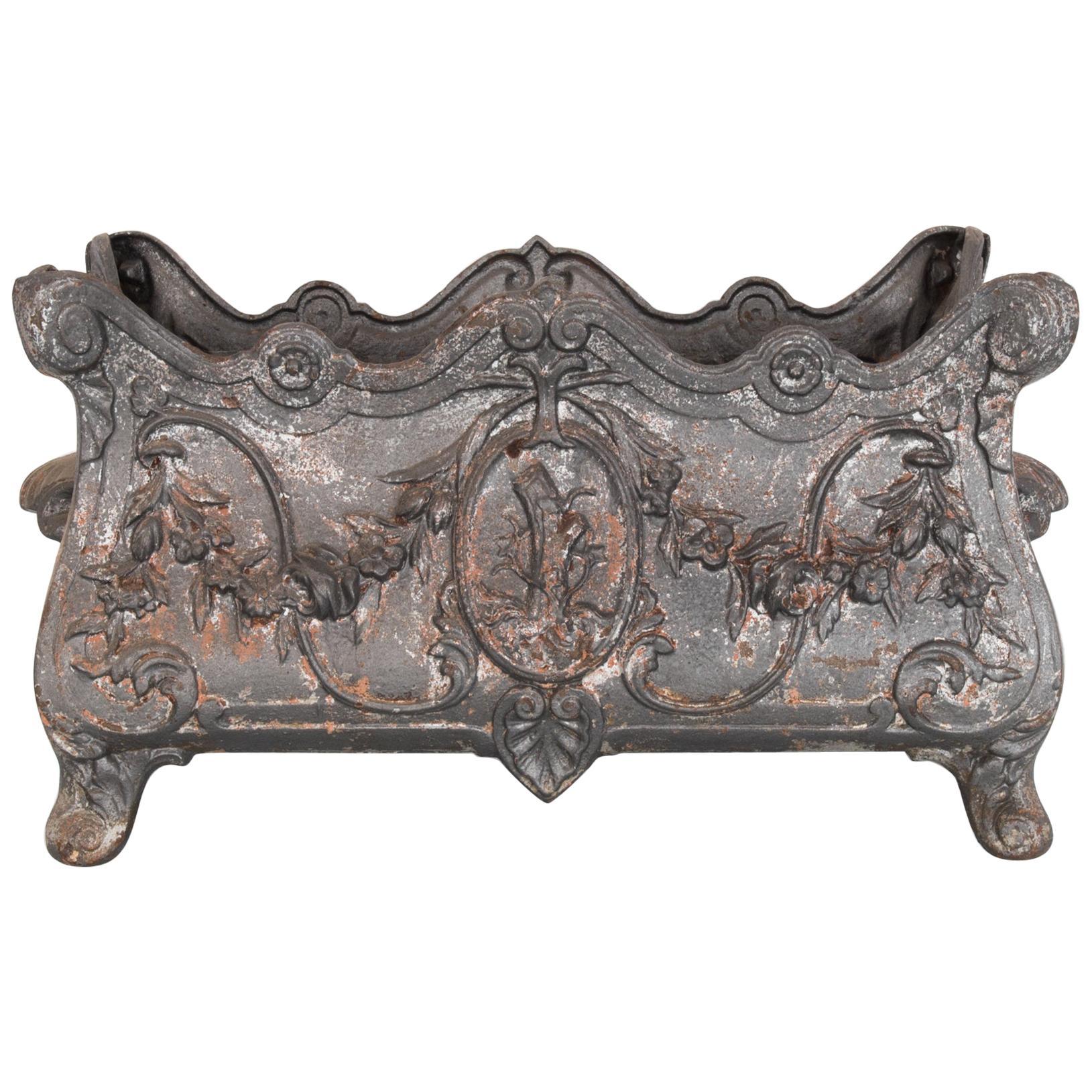 1950s Rococo Cast Iron Planter