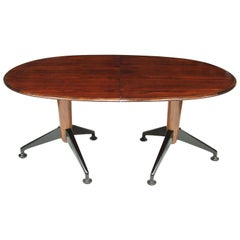 1950s Rosewood Extendable Oval Dining Table by A J Milne for Heals, London