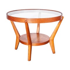 1950s Round Occasional Table by Kozelka and Kropacek for Interieur Praha, Ligh