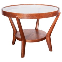 1950s Round Occasional Table by Kozelka and Kropacek for Interieur Praha, Oak
