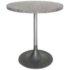 """1950s Round Tea Table """"Ceppo"""" Stone Top"""