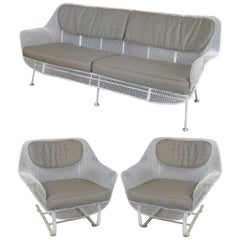 1950s Russell Woodard 'Sculptura' Sofa and Pair of Lounge Chairs