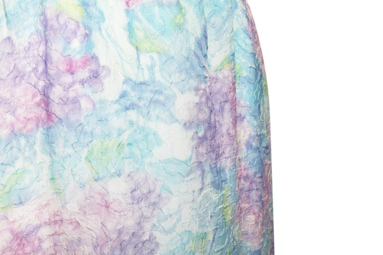 Women's 1950s Saks Fifth Avenue Embossed Wiggle Dress In Pastel Shades For Sale