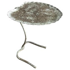 1950s Salterini Lily Pad Outdoor Side Table