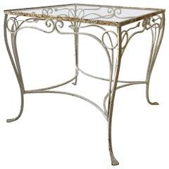 1950s Salterini Wrought Iron Small Outdoor Table