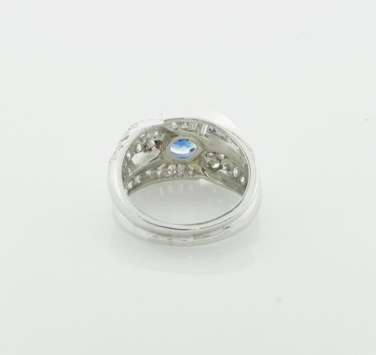 1950s Sapphire and Diamond Ring in Platinum