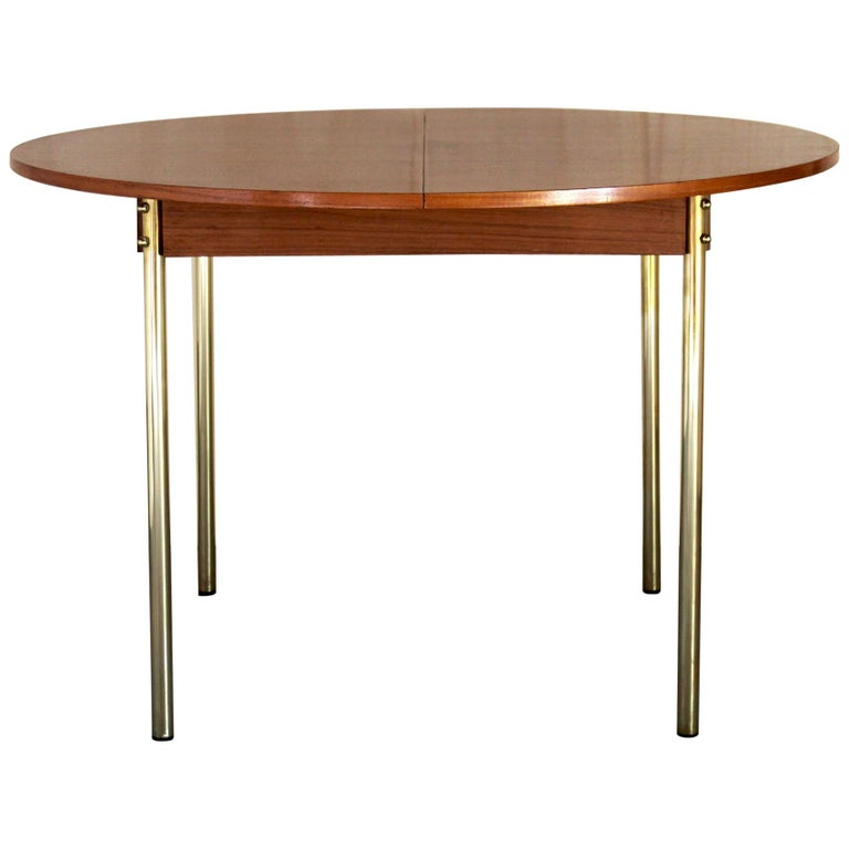 1950s Scandinavian Extendible Dining Table For Sale