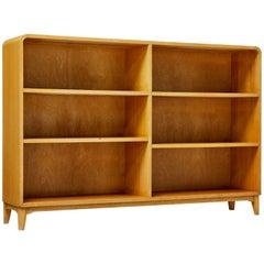 1950s Scandinavian Modern Birch Open Bookcase