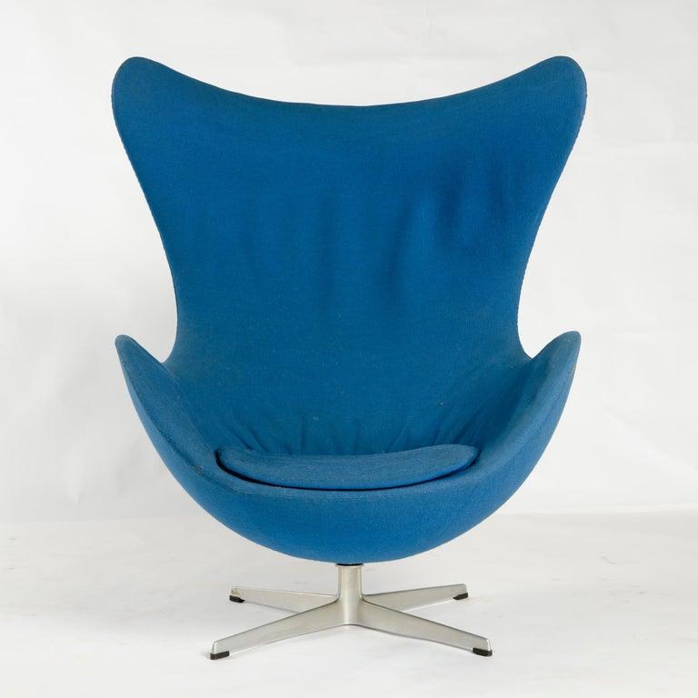 Danish 1950s Scandinavian Modern Lounge Chair by Arne Jacobsen for Fritz Hansen For Sale
