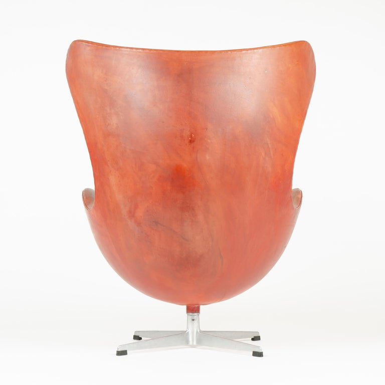 Leather 1950s Scandinavian Modern Lounge Chair by Arne Jacobsen for Fritz Hansen For Sale