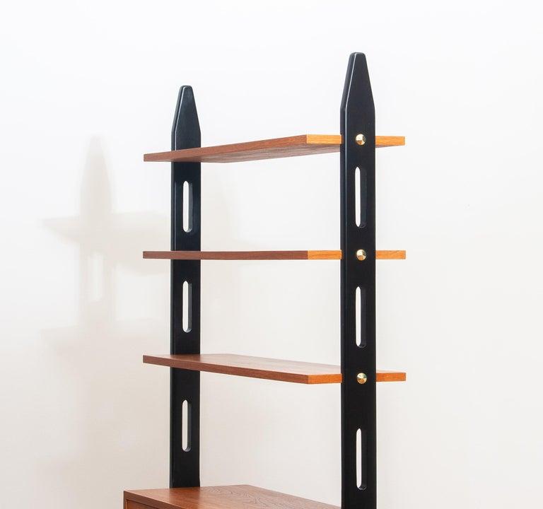 1950s, Scandinavian Shelf's / Bookcase / Room Divider in Teak, Made in Sweden 2
