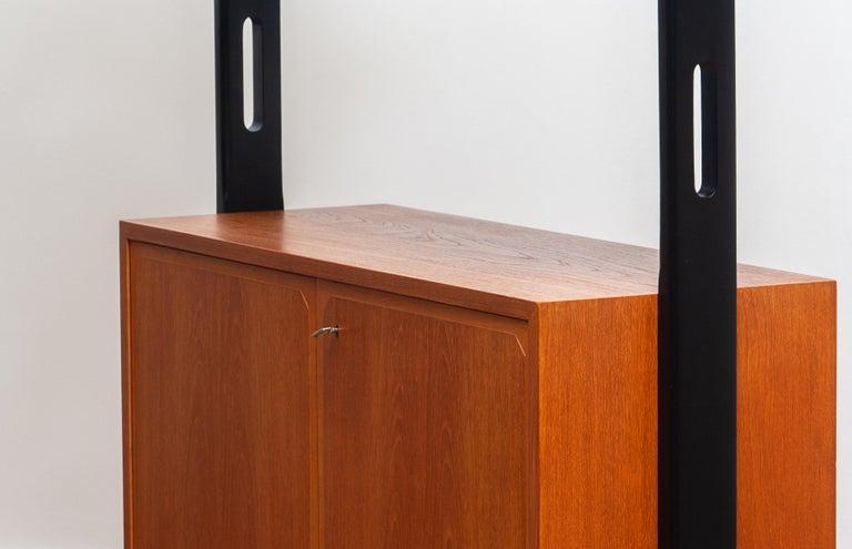 1950s, Scandinavian Shelf's / Bookcase / Room Divider in Teak, Made in Sweden 3