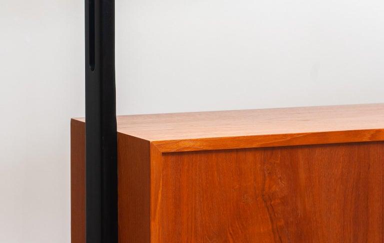 1950s, Scandinavian Shelf's / Bookcase / Room Divider in Teak, Made in Sweden 5