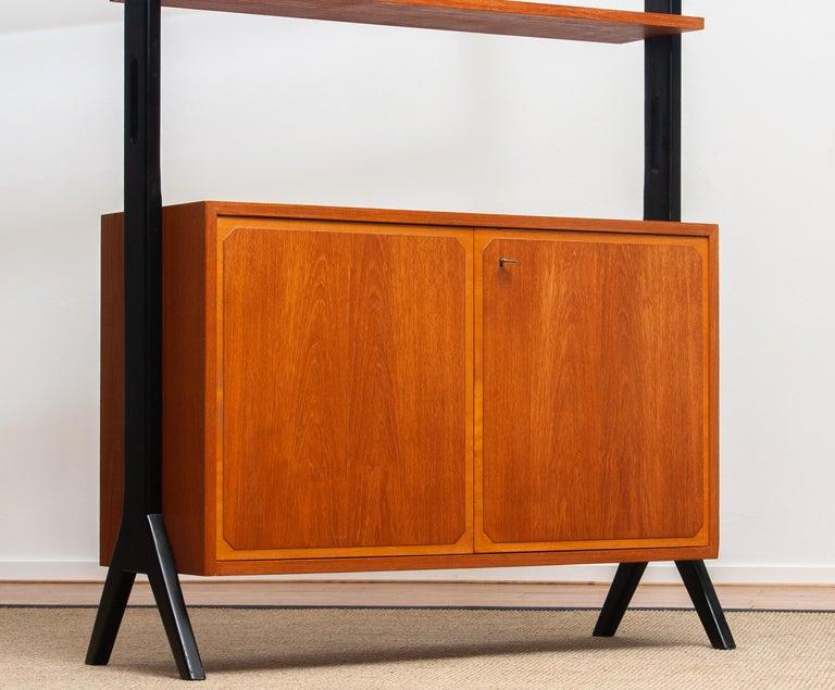 Veneer 1950s, Scandinavian Shelf's / Bookcase / Room Divider in Teak, Made in Sweden
