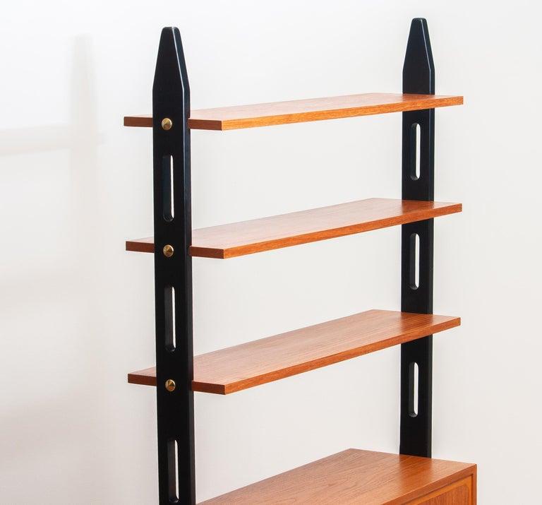 1950s, Scandinavian Shelf's / Bookcase / Room Divider in Teak, Made in Sweden In Good Condition In Silvolde, Gelderland