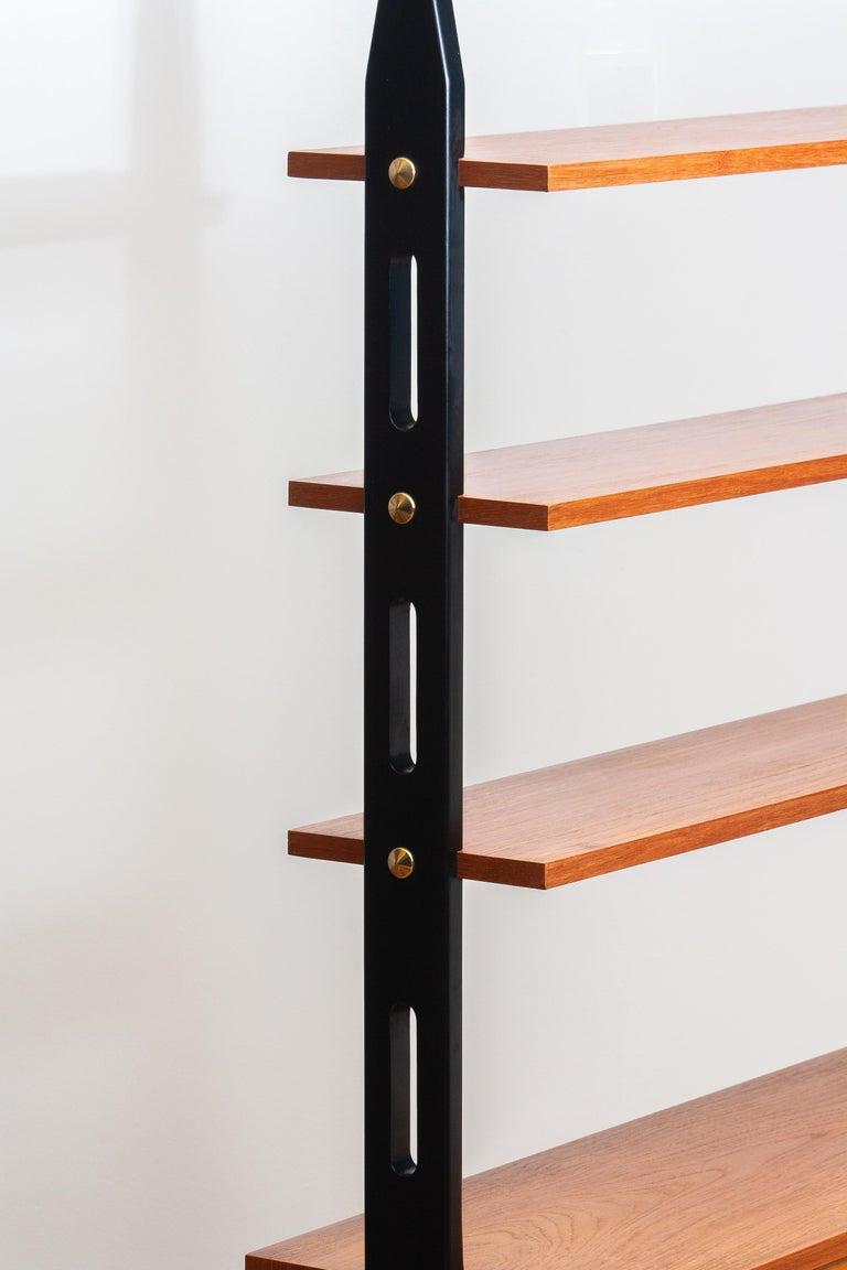 Mid-20th Century 1950s, Scandinavian Shelf's / Bookcase / Room Divider in Teak, Made in Sweden