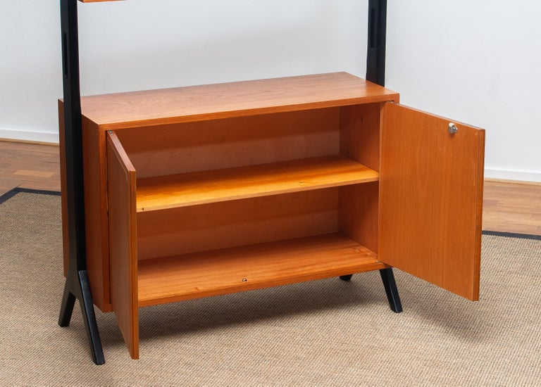 Beech 1950s, Scandinavian Shelf's / Bookcase / Room Divider in Teak, Made in Sweden