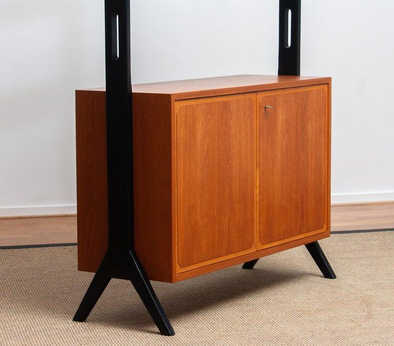 1950s, Scandinavian Shelf's / Bookcase / Room Divider in Teak, Made in Sweden 1