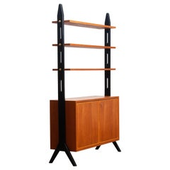 1950s, Scandinavian Shelfs / Bookcase / Room Divider in Teak Made in Sweden