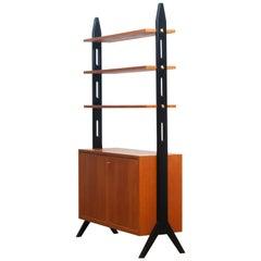 1950s, Scandinavian Shelfs / Bookcase / Room Divider in Teak Made in Sweden