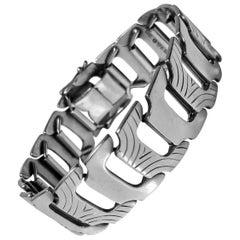 1950s Scandinavian Silver Bracelet Anton Michelsen