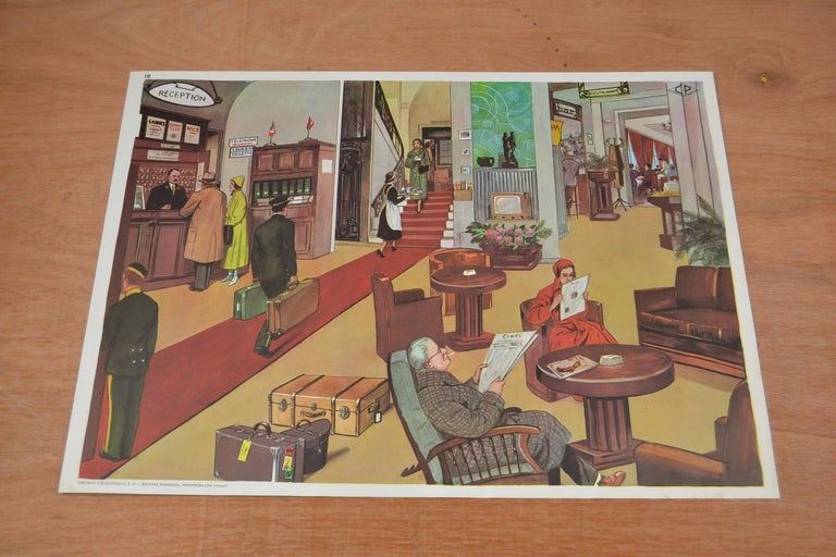 1950s School Chart, at the Playground of a School, by Rossignol, France  For Sale 8