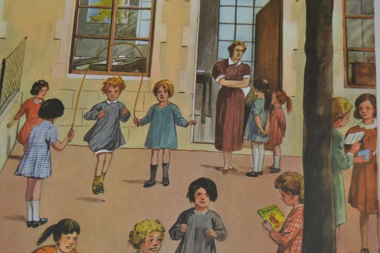 1950s School Chart, at the Playground of a School, by Rossignol, France  For Sale 2