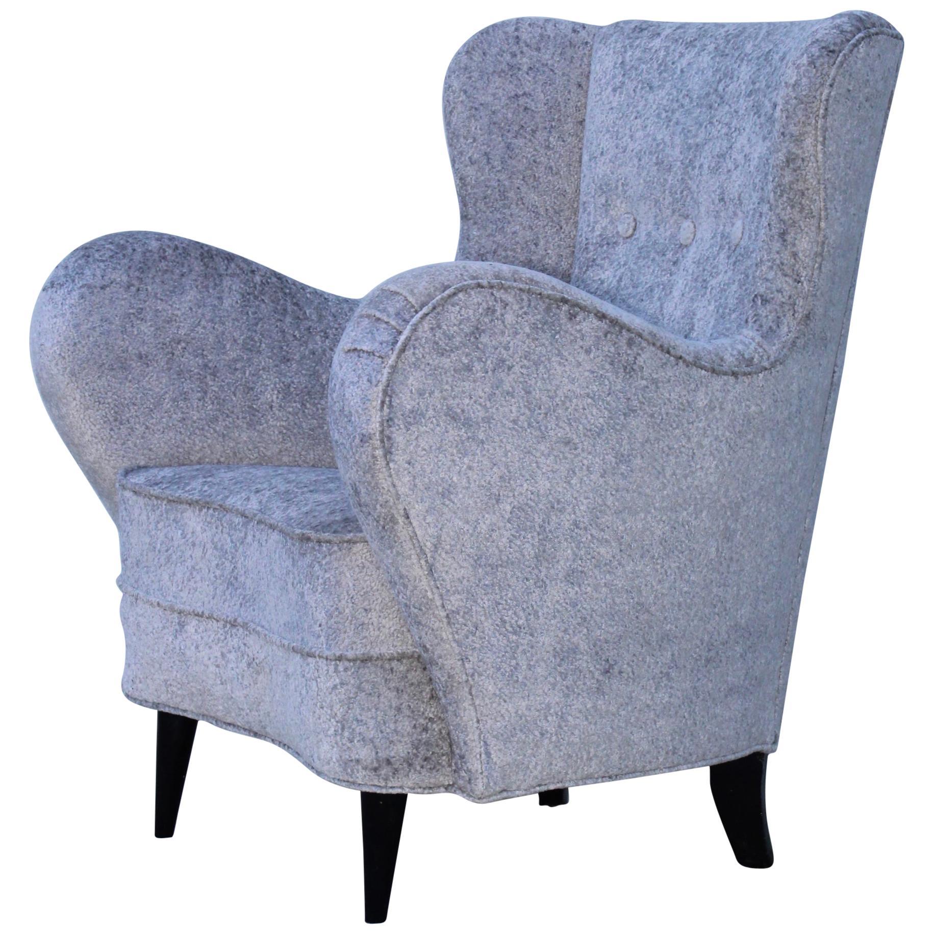 1950s Sculptural Italian Lounge Chair