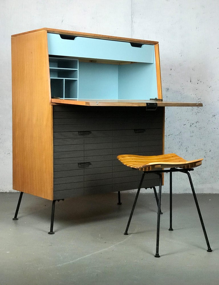 Mid Century Modern Secretary Chest by Raymond Loewy for Mengel Furniture For Sale 12