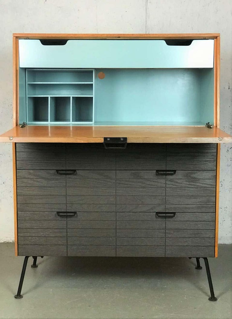 Mid Century Modern Secretary Chest by Raymond Loewy for Mengel Furniture In Good Condition For Sale In Framingham, MA