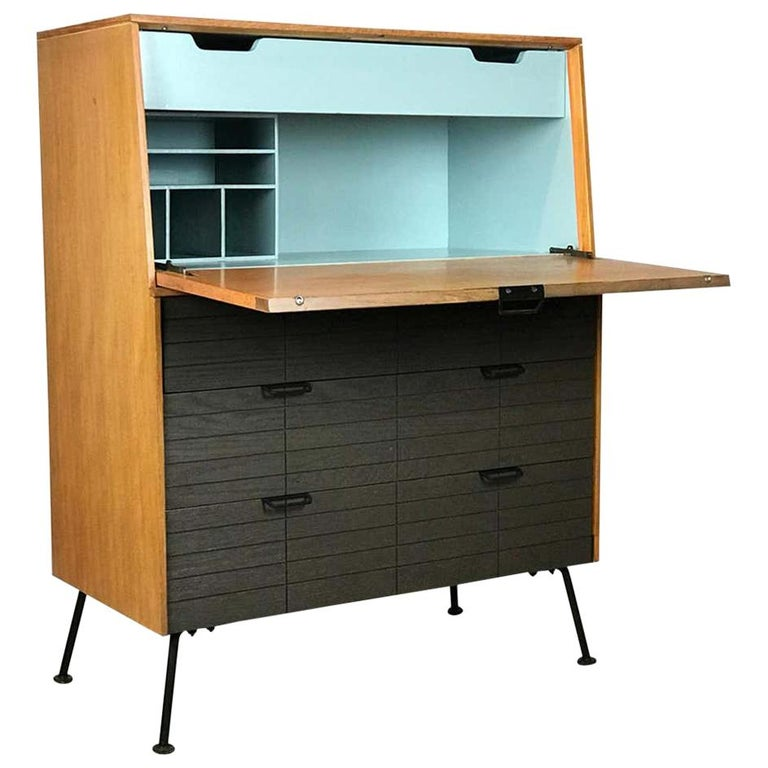 Mid Century Modern Secretary Chest by Raymond Loewy for Mengel Furniture For Sale