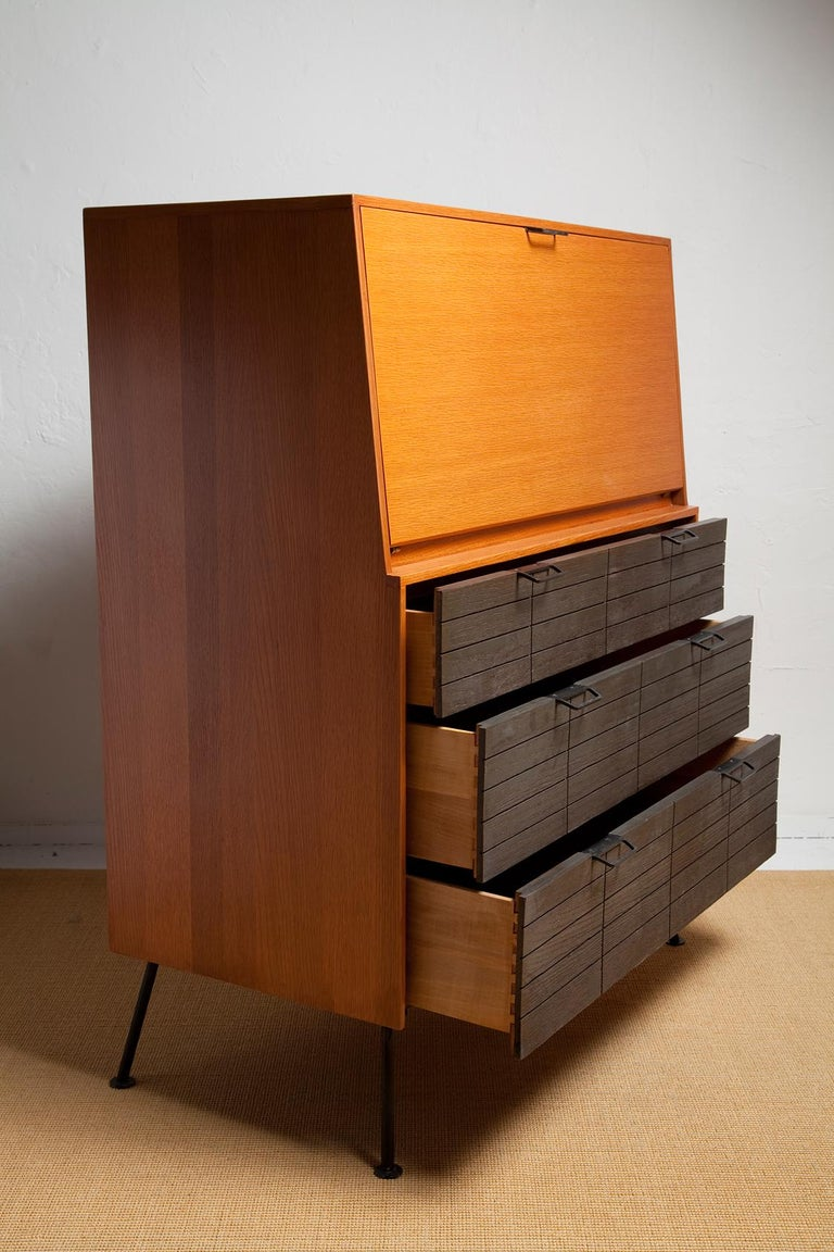 1950s Secretary Desk by Raymond Loewy for Mengel In Good Condition For Sale In North Miami, FL