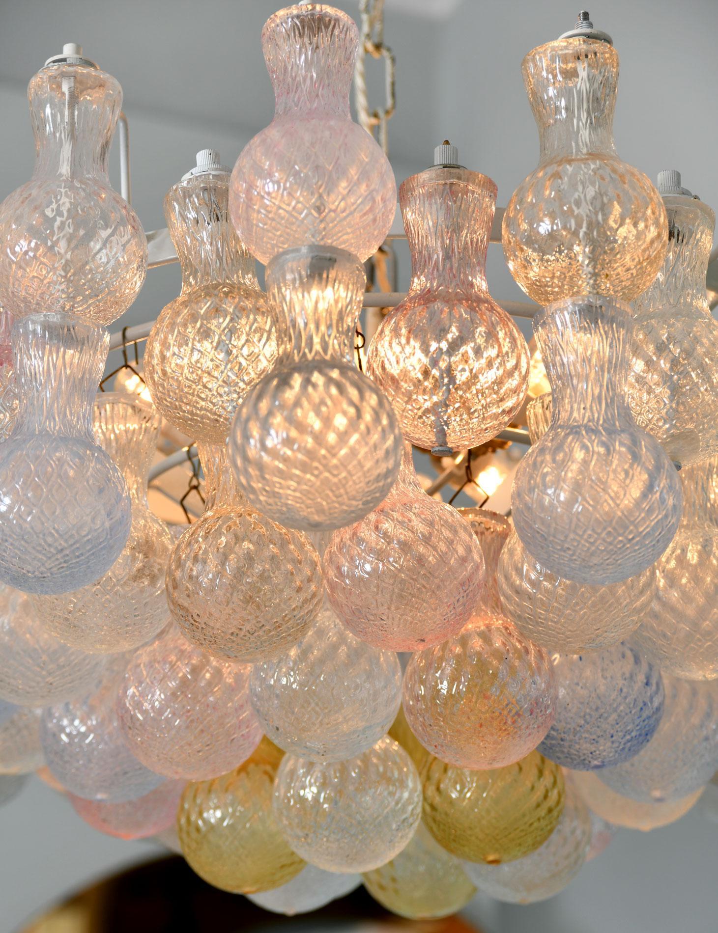 1950s seguso murano glass bubble chandelier