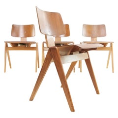 1950's Set of 4 Robin Day Hillestak Dining Chairs for Hille