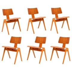 1950s Set of 6 Robin Day Hillestak Dining Chairs for Hille