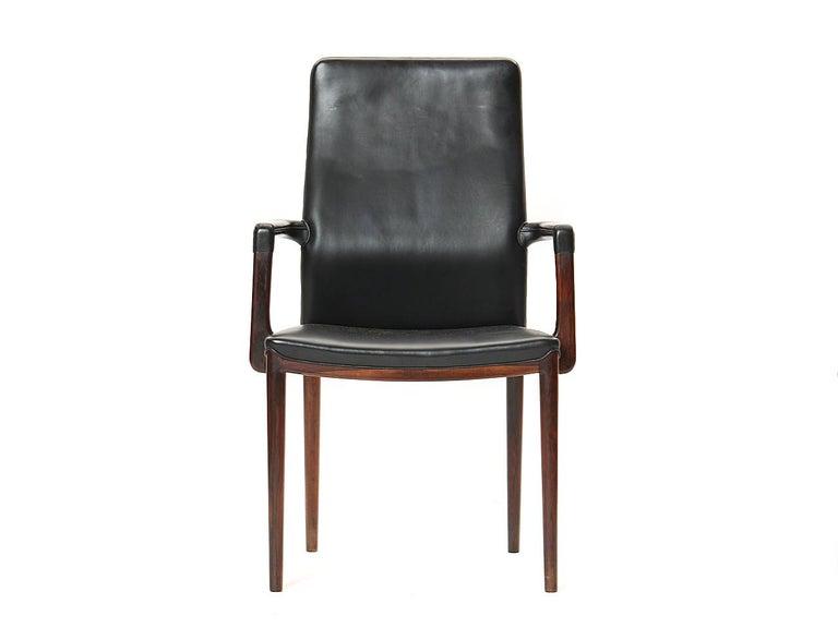 Mid-Century Modern 1950s Set of 8 Danish Dining Chairs by Vestergaard Jensen for Peder Pedersen For Sale