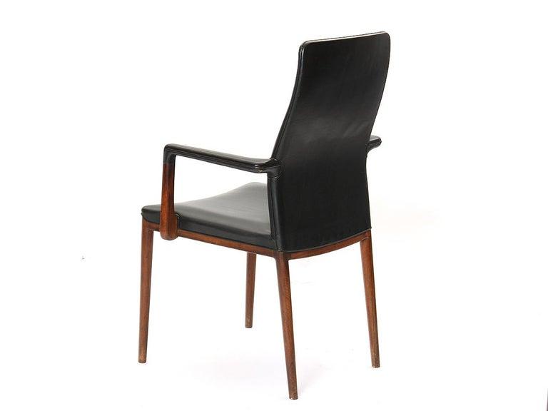 Mid-20th Century 1950s Set of 8 Danish Dining Chairs by Vestergaard Jensen for Peder Pedersen For Sale