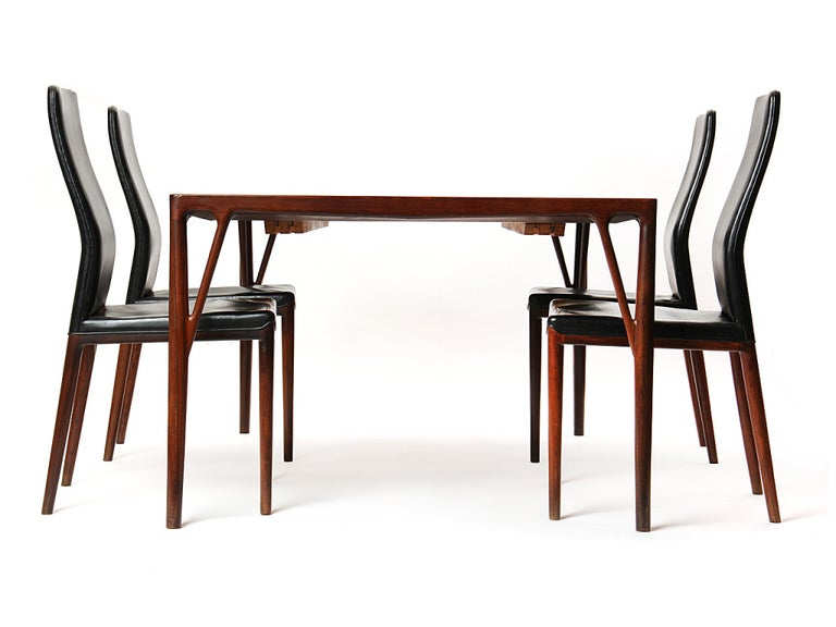 1950s Set of 8 Danish Dining Chairs by Vestergaard Jensen for Peder Pedersen For Sale 1